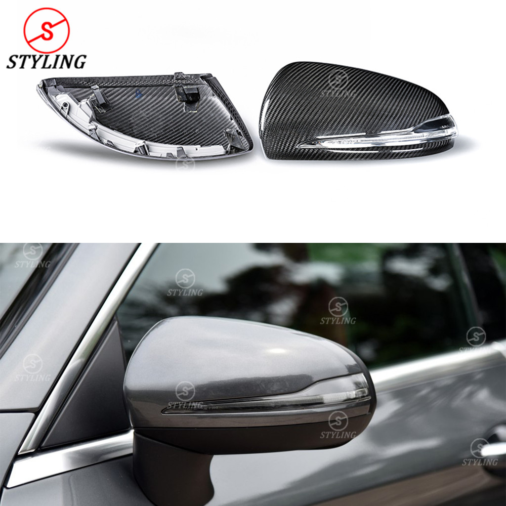 LHD&RHD For Mercedes W205 mirror cover W222 W213 GLC class Full Dry Carbon Fiber Rear View caps Mirror Cover car styling 2014-UP