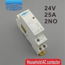 TOCT1 Американская классификация проводов 2р 25A 24V 50/60HZ Din rail бытовой ac Контактор В соответствии с стандартом 2NO или 1NO 1NC