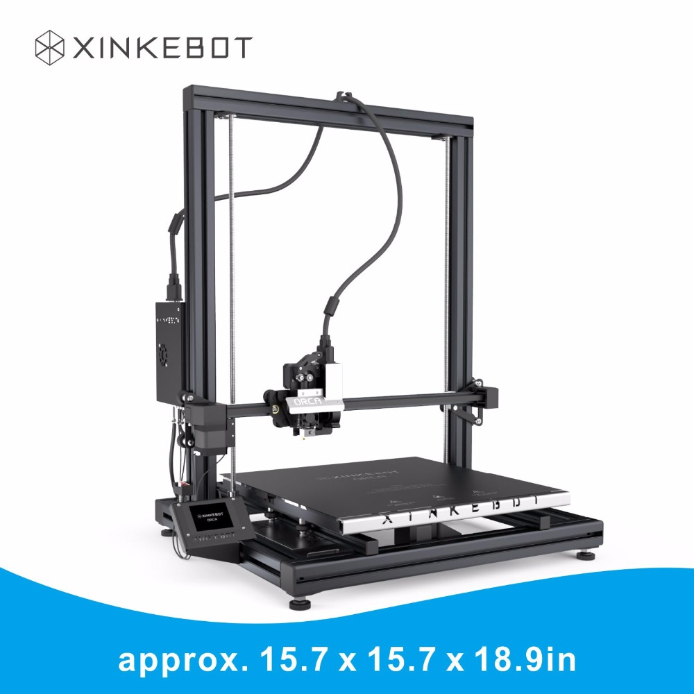 High Quality Large 3D Printer XINKEBOT Orca2 Cygnus Borosilicate Glass Plate 400x400x480mm Fast Shipping