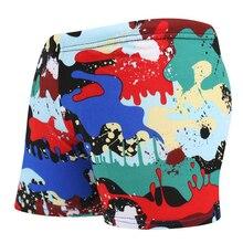 Детские плавки с рисунками из мультфильмов; короткие шорты с камуфляжным принтом; пляжная одежда для плавания и бассейна; купальный костюм; одежда для купания; Sunga