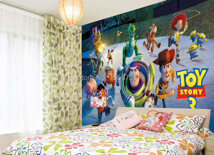 Toys Story 3 Family Portrait Decal Wall Paper Home Decor Anime Background  For Kids Buzz Lightyear 3D Wall Sticker Removable In Wall Stickers From  Home ... Part 41
