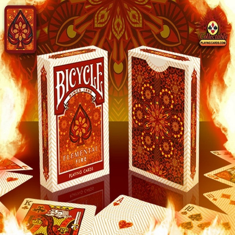 Bicycle Elemental Fire Playing Cards Collectable Poker Limited Edition Deck Magic Cards Magic Tricks Props for Magician