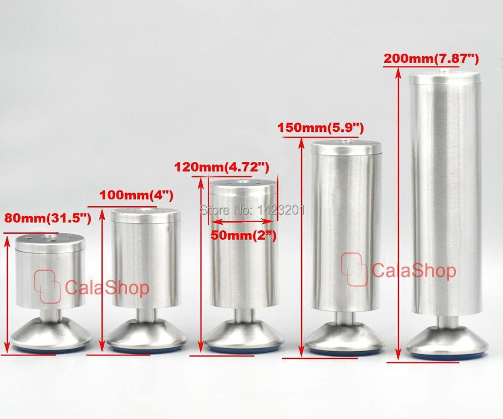 4 Pcs / Lot Stainless Steel Adjustable Cabinet Metal Legs Kitchen ...