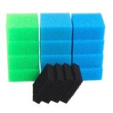 Confezione filtro in spugna per serbatoio di pesce compatibile per Juwel Compact / Bioflow 3.0 / M (4x Fine, 4x grosso, 4x nitrato, 4x carbonio)