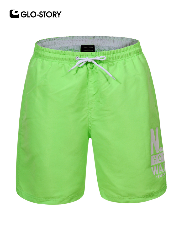 GLO-STORY Men 2019 New Summer Beach   Board     Shorts   Men Casual Letter Print Swim   Short   Pants MTK-7771