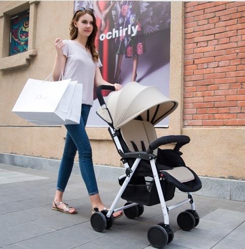 ФОТО Light portable stroller can sit lying fold suspension four-wheel baby hands push bb the umbrella children small baby stroller