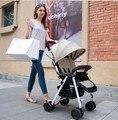 Portátil puede sentarse puede mentir fold suspensión de cuatro ruedas bebé manos empujar bb el niños paraguas pequeño cochecito de bebé