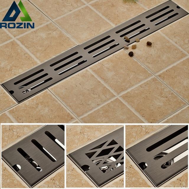 Oil Rubbed Bronze Bathroom Shower Floor Drain Stainless