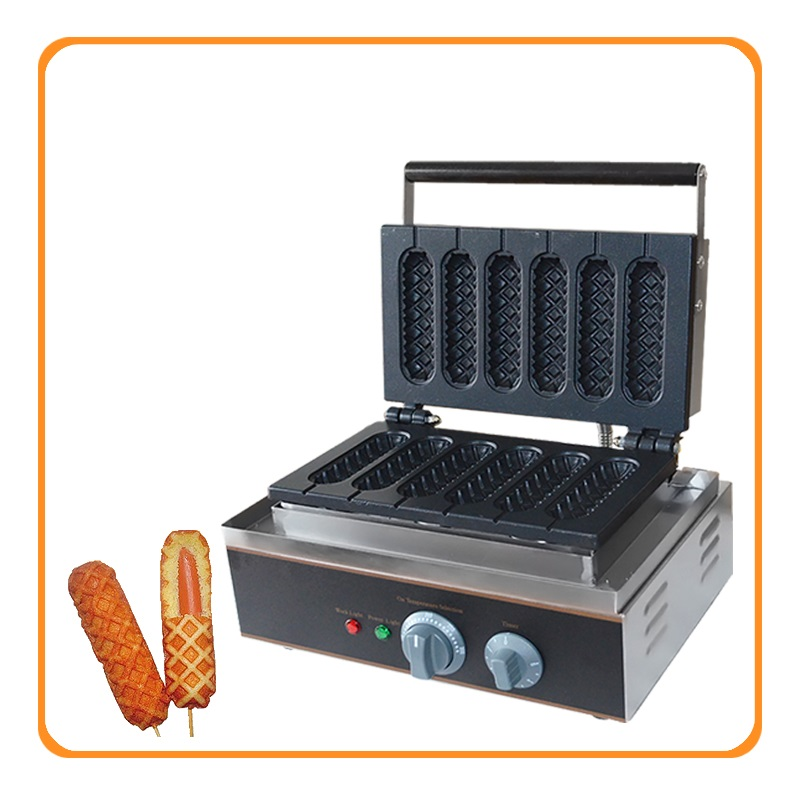 110v 220v Commercial French Muffin Machine Hot Dog Corn Shape Lolly Wafer Waffle Makers Kitchen Machine EU/AU/UK/US Plug