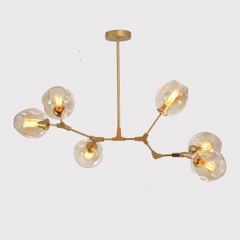Lukloy Post Modern Magic Beams Gl Pendant Lamp Light Luxury Branch Chandelier Lighting Fixture Living Room Decoration