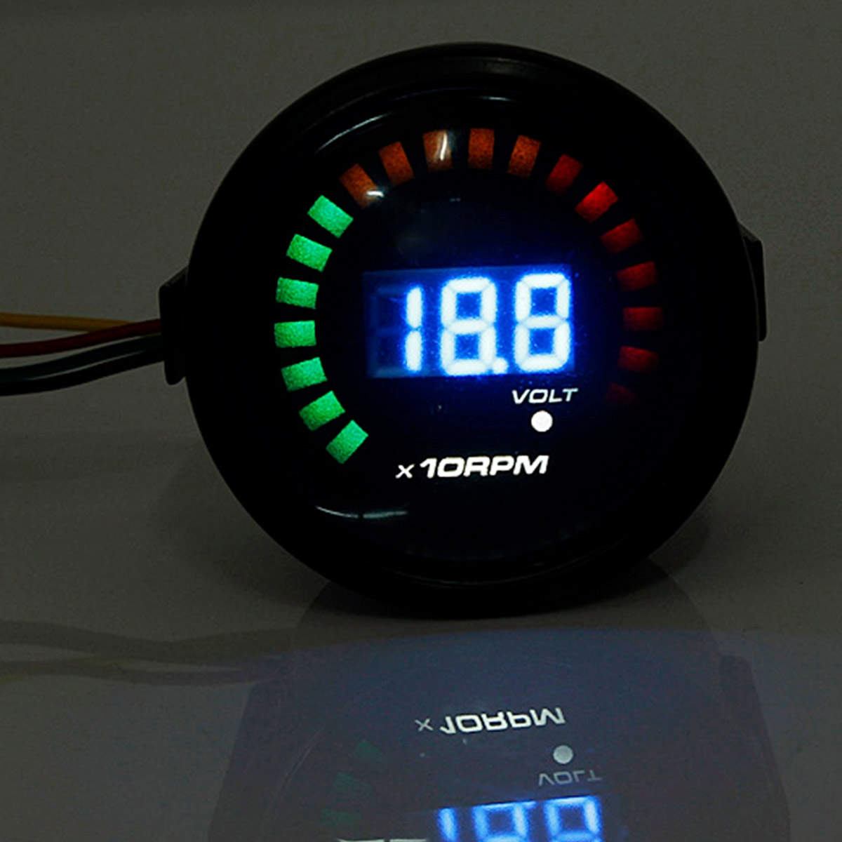 Universale Nero 2 Pollice 52 MM Auto Contagiri LED Digital Light Smoked Tacho Gauge Meter RPM