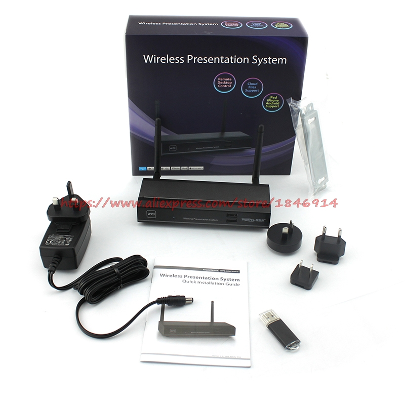 WGA-310 WPS Wireless VGA/HDMI Projection Gateway HD Video Transmitter Projector