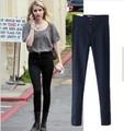 2015 новый моду, Европейских стиль все подобранные тощие высокой талия джинсы женщина эластичный sexy тонкий хип карандаш брюки женские джинсы