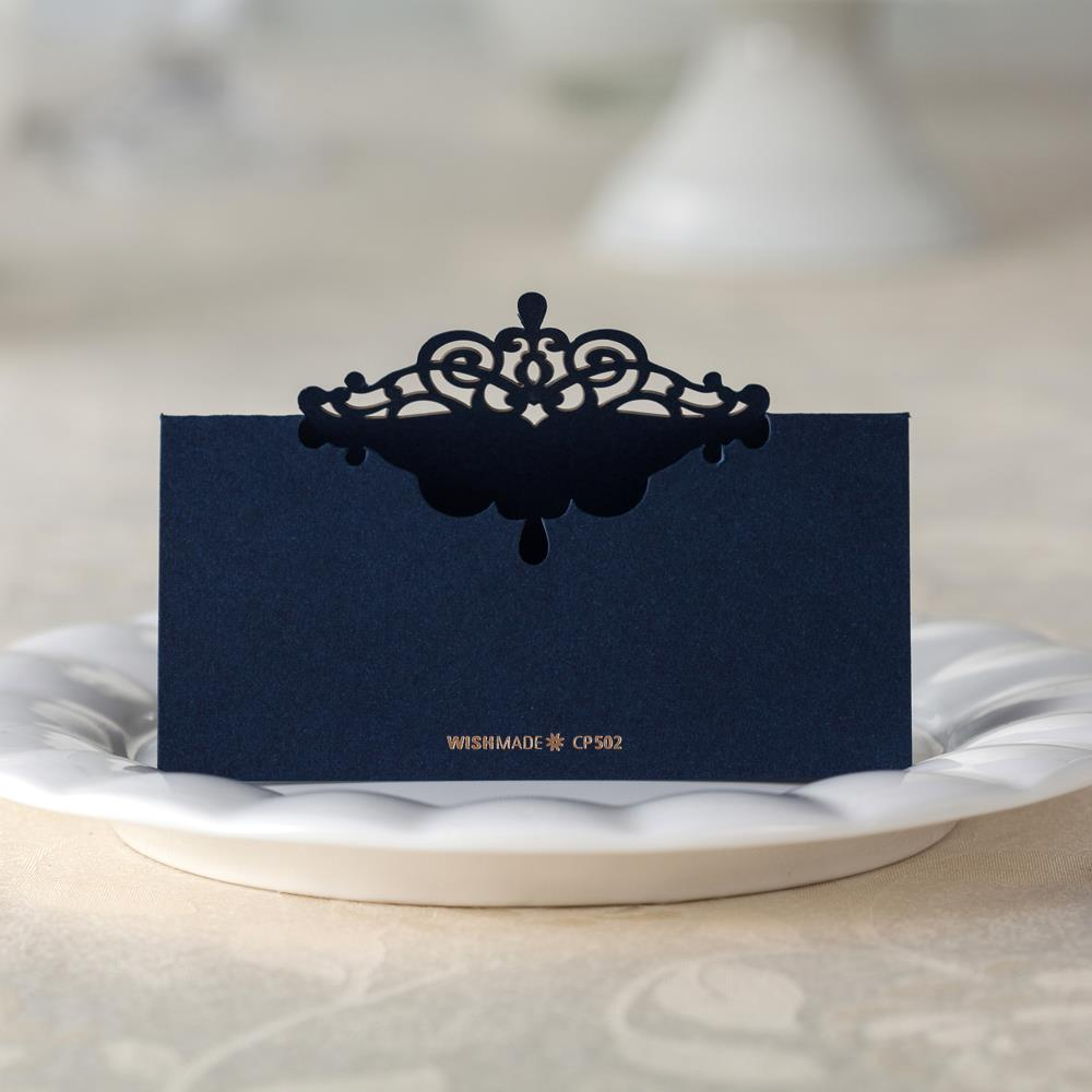 Blue Place Card Table Name Card Number Wedding Invitaions Cards Name