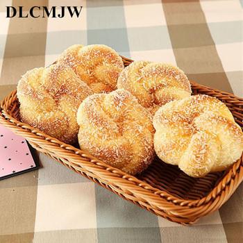 Sprzedaż hurtowa PU fałszywy chleb sztuczna żywność squishy chleb świąteczne zaopatrzenie imprezy imitujące chleb Model fotografia fałszywy chleb rekwizyty tanie i dobre opinie 1 pc DLCMJW 11*9 2*4 5CM