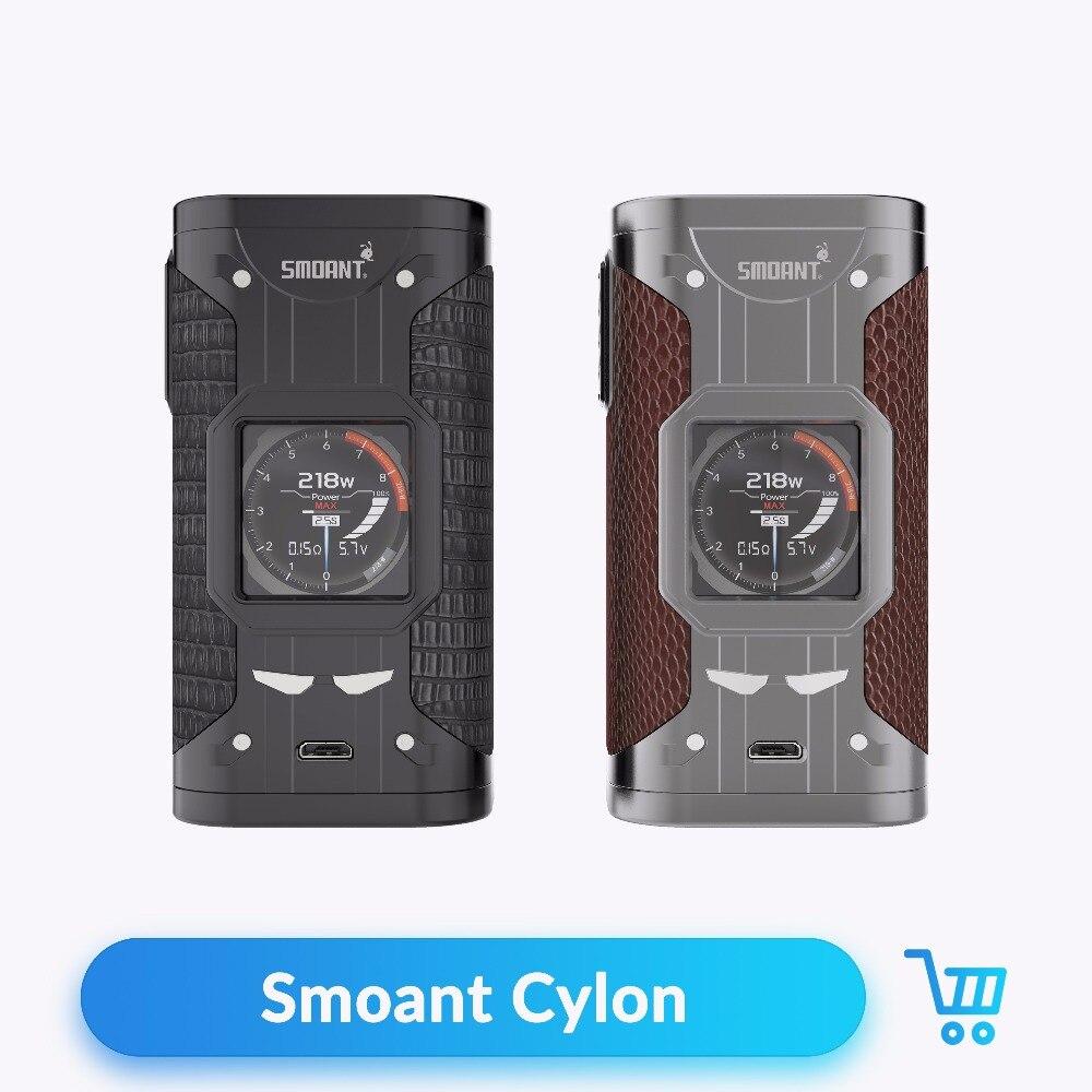 D'origine Smoant Cylon 218 w TC Boîte Mod Alimenté par 18650 Batterie Vaporisateur Mod pour 510 Fil Cigarette Électronique Kit vaporisateur MOD