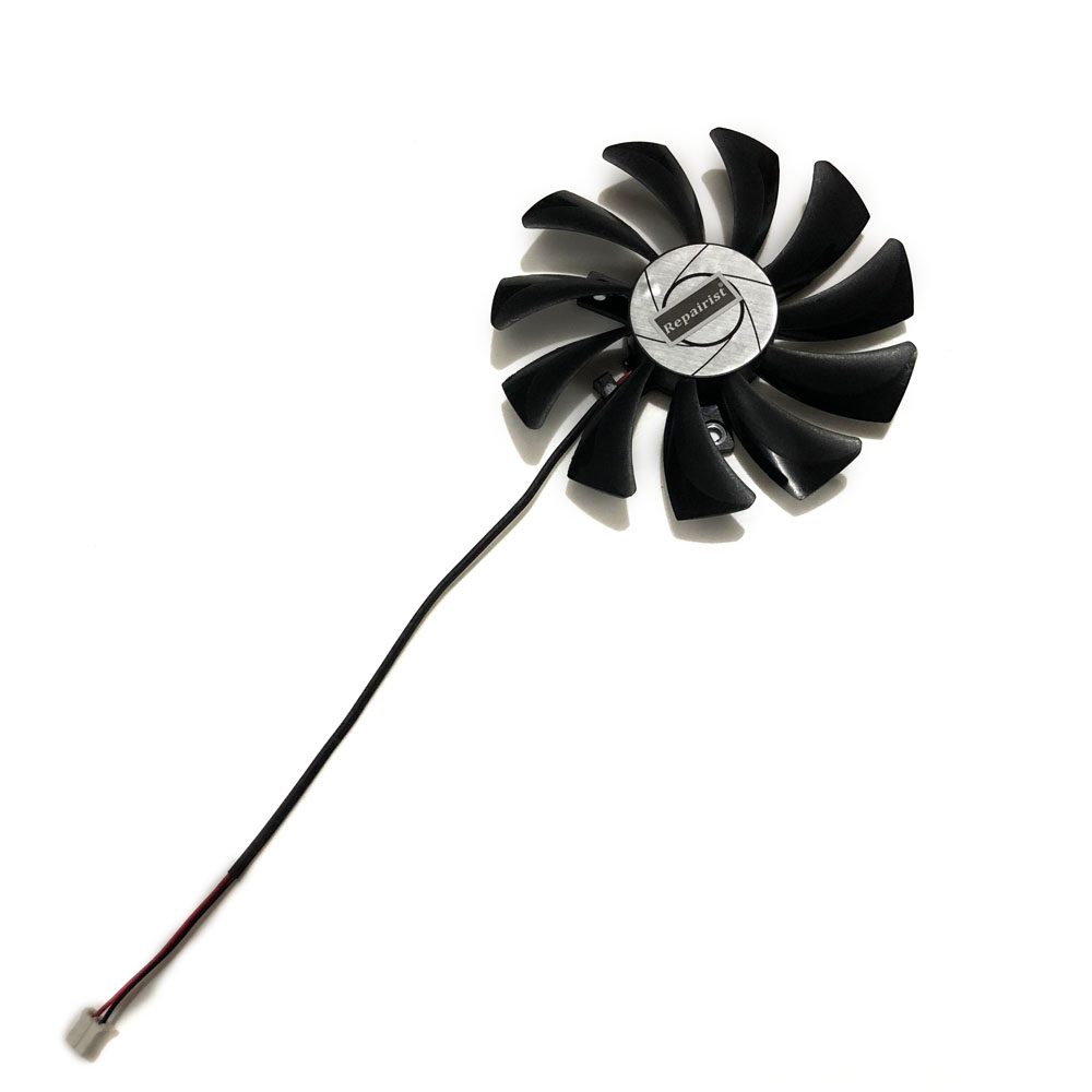 85MM 0.57A 2Pin GTX1050Ti <font><b>GTX</b></font> 1050 2G GPU VGA Cooler Fan For <font><b>MSI</b></font> <font><b>Geforce</b></font> <font><b>GTX</b></font> <font><b>1050Ti</b></font> 4G OC Graphic Card Cooling As Replacement image