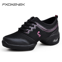 Size 35 41 Women Ladies Breath Fitness Dance Shoes Soft Outsole Girls Sports Dance Sneaker For