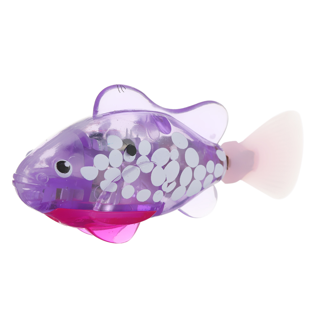 Electronic Pets New Electronic Fish Pets With Flash Lighting Mini Sea Animal Electric Swimming Fish Toys For Children Gifts Battery Powered Fish Vivid And Great In Style