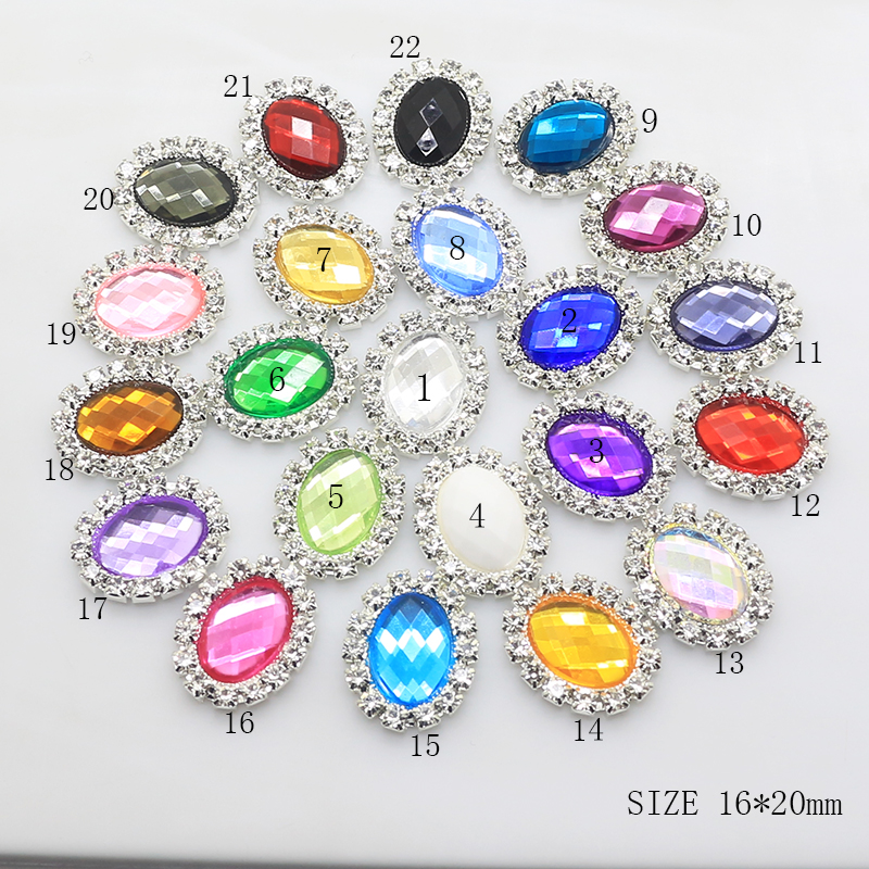 Selling Limited Edition 10pcs 16 * 20mm Oval Diy Jewelry Accessories Rhinestone Plate Wedding Invitation Clothing Accessories