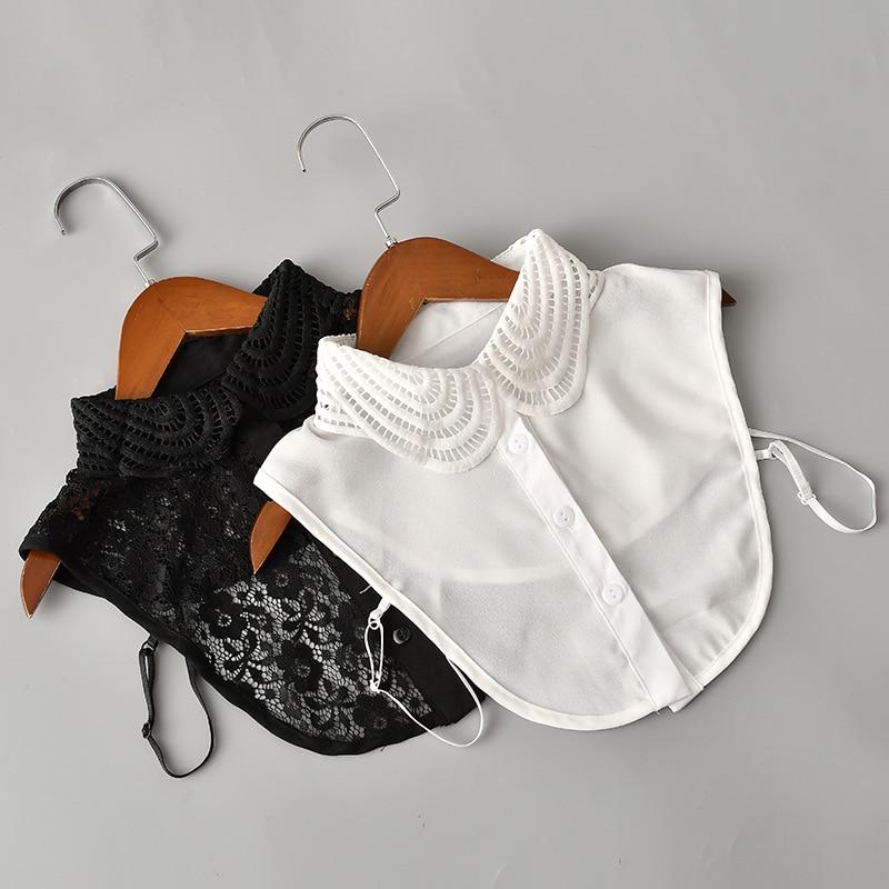 Shirt Fake Collar Lace/Chiffon Detachable Collar Lady False Collar Lapel Blouse Top Women Clothes Accessories