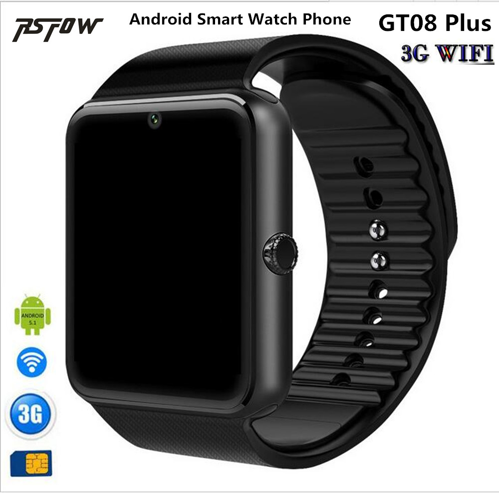 RsFow QW08 Android 4.4 3G WiFi GT08 Smart Watch Phone MTK6572 1.2GHz Dual Core 512MB+4GB Bluetooth 4.0 SmartWatch Pk QW09 DZ09 цена и фото