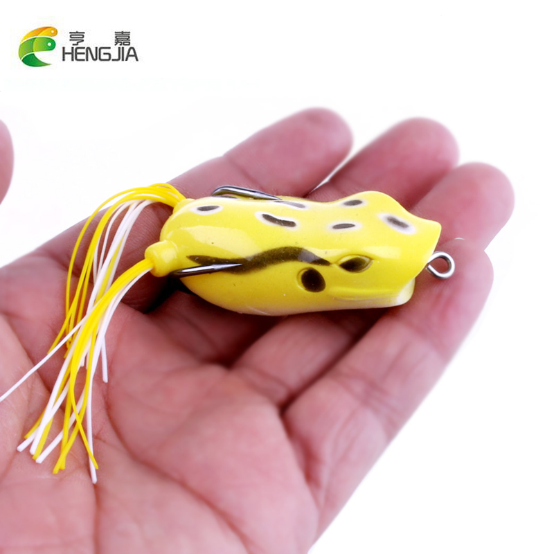 все цены на 5pcs/lot 5.5cm 12g Hot Frog fishing lure Soft lures artificial fishing bait Snakehead killer Top water Crank beard lure онлайн