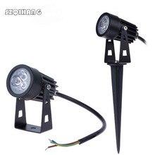 3x1W Outdoor Garden Landscape Light 220V 110V 12V LED Lawn Lamp IP68 Waterproof Lighting Led Path Spotlights