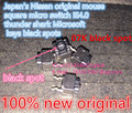 (10PCS) Japan's Nissan original mouse square micro switch IE4.0 thunder shark Microsoft keys black spots