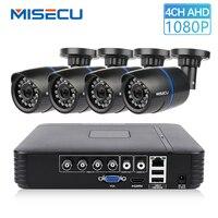 MISECU CCTV 4CH 720P/1080P AHD Camera Kit P2P HDMI H. 264 DVR Video Surveillance System Waterproof Outdoor Security Camera Kit