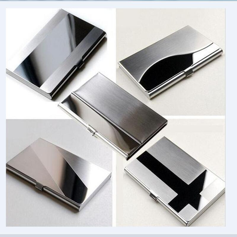 Card Holders Waterproof Stainless Steel Silver Aluminium