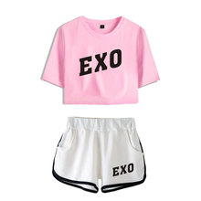 EXO Crop Top And Short Pants [8 Colors]