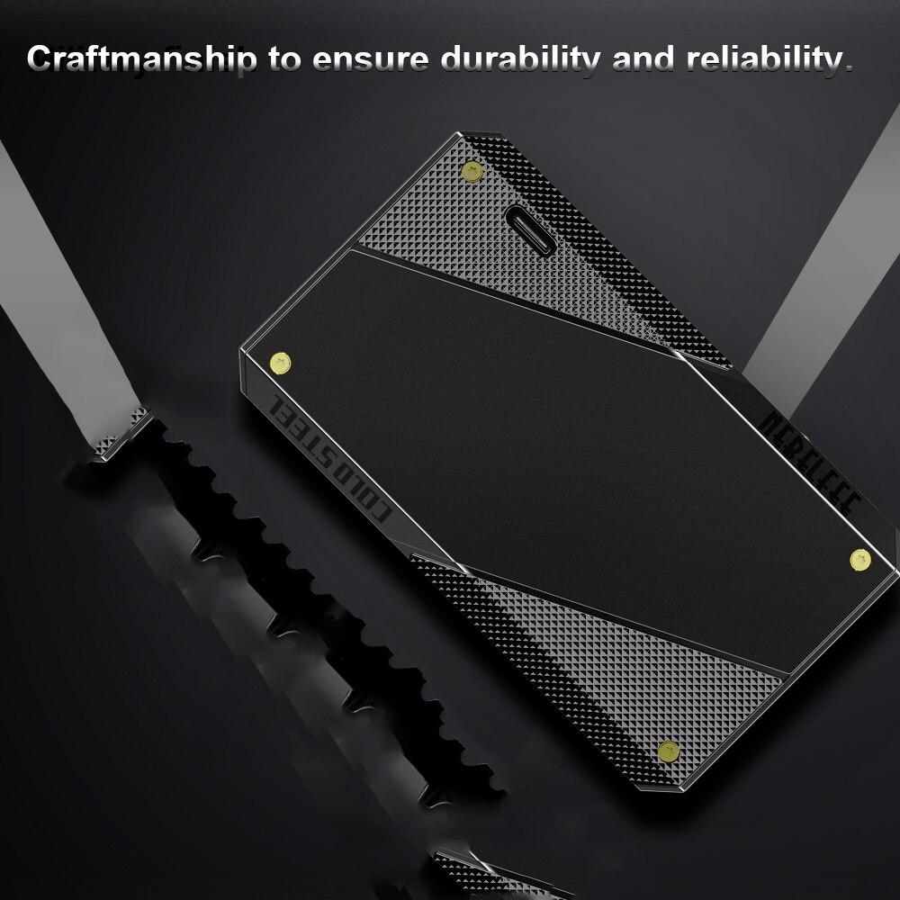 EHPRO acier froid 200 W boîte Mod Vape Cigarette électronique avec écran d'affichage batterie externe 18650 acier inoxydable TC mods Ecig - 3