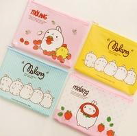 4 Pcs Lot Kawaii Cartoon Molang A4 A5 A6 Mini File Folder Cute Colorful Document Bag
