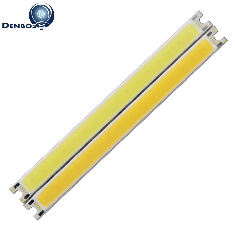 allcob manufacturer LED Strip COB module Light Source Lamp 12V DC White Warm White 100x8mm 5W LED FLIP Chip Bulb for DIY lamp diy 20w 3000k 2100lm square cob led module dc 36 45v