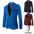 2015 новых прибытия блейзеры мужчины пиджак терно masculino jaquetas masculina одной кнопки мужская пиджаки куртка размер M-3XL HY898
