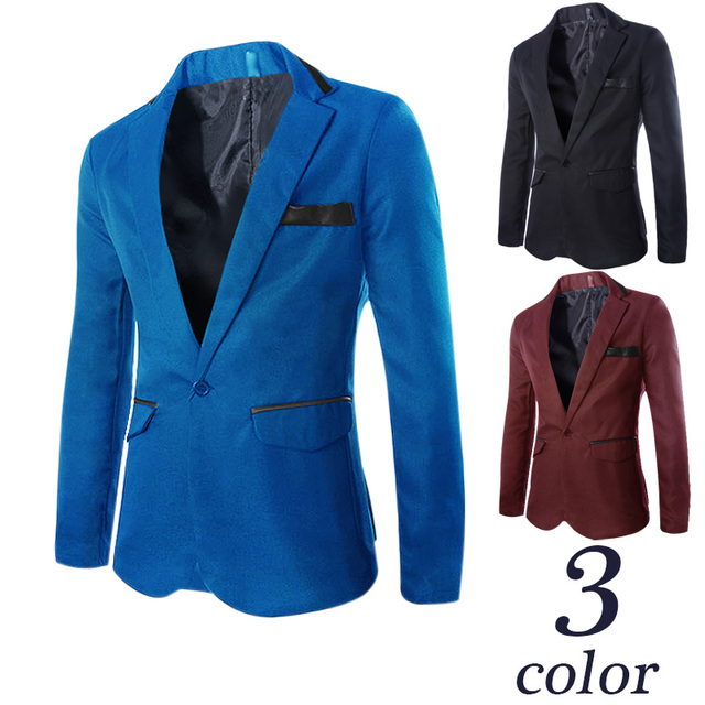 2015 nueva llegada hombres blazer terno masculino jaquetas masculina solo botón blazers mens blazers chaqueta tamaño M-3XL HY898