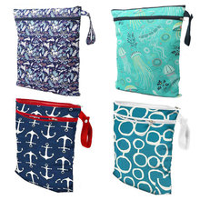 Baby Diaper Bags Reusable Pocket Diapers Bag Travel Baby Nappy Wet Dry Bags Size 41x33cm Double Zipper Diaper Bag diaper bags diapers rubbish bags rubbish diapers abandoned bags portable baby portable diaper box disposable pet dorpshipping