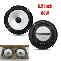1 Pair 6 5 Inch Car Stereo Speakers Stereo Full Range Audio Speakers 2x80W Subwoofer Hot
