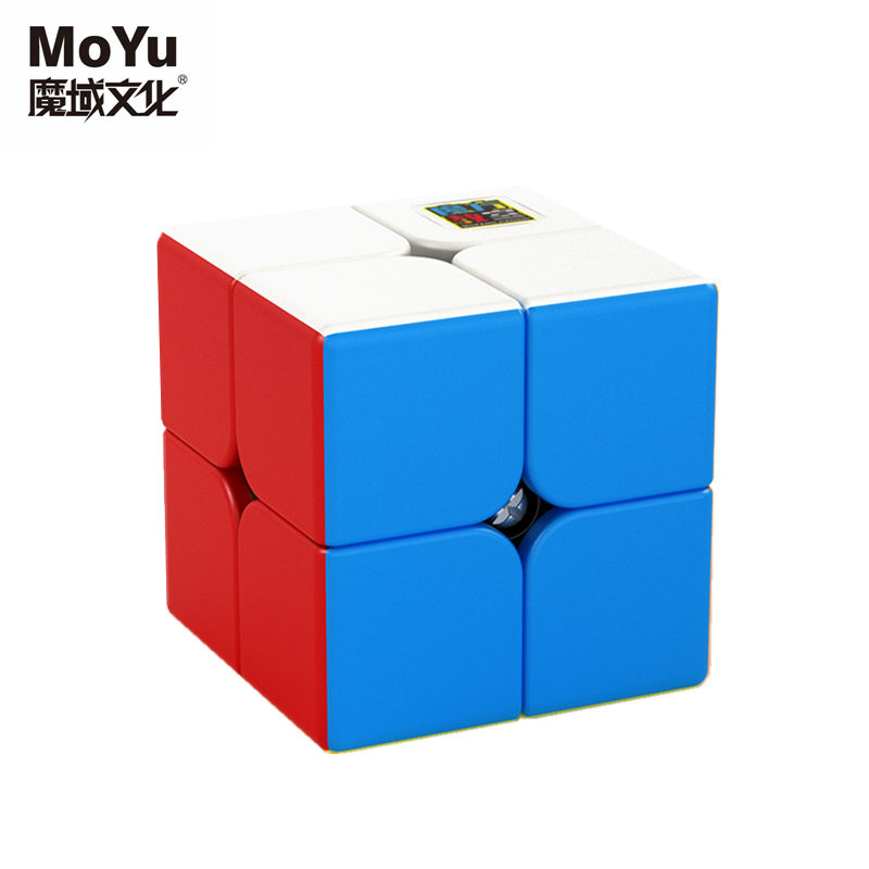 MoYu Cubing Classroom MeiLong 2x2x2 Magic Speed Cube Stickerless Professional Pocket Puzzle Cubes Toys For Children