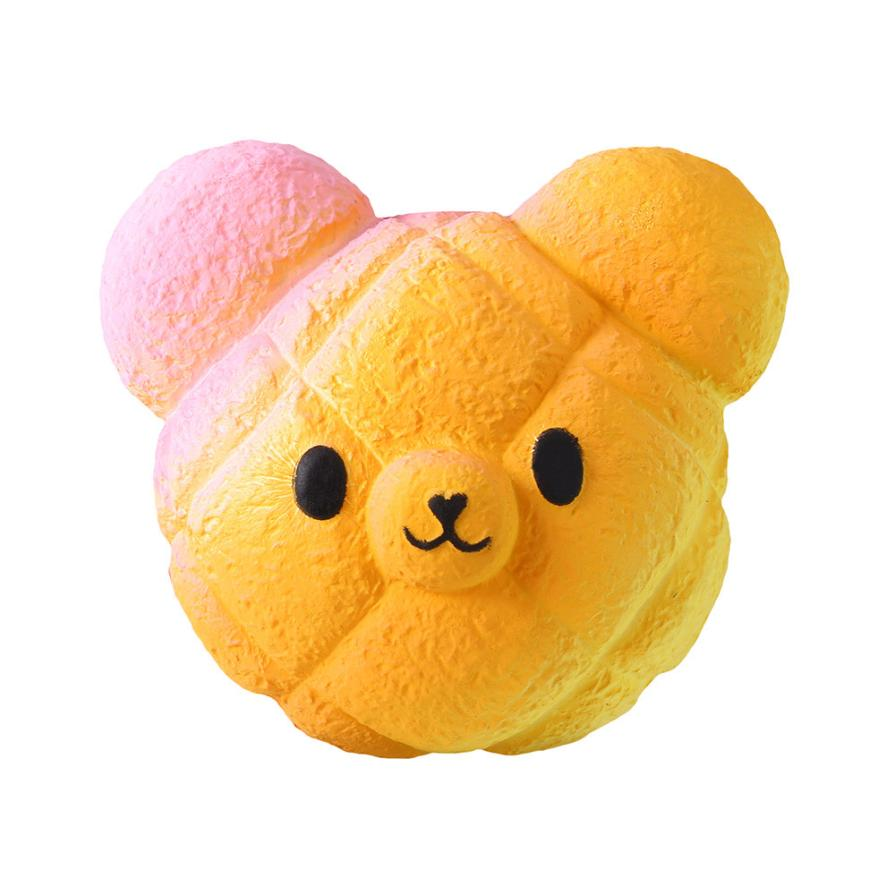 Original Kawaii Kawaii Cartoon Galaxy Bear Squishy Slow Rising Cream Scented Stress Reliever Toy   Collection Cure Gifts 7.4 #2