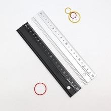 20cm Advanced Aluminum Alloy Metal Ruler Multifunctional Student Cutting Protection Art Anti Slip Drawing Tool