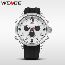 WEIDE LCD men watch sport digital luxury brand white  quartz watches water resistant erkek kol saati fashion casual alarm clock weide clock luxury quartz watches men white sports electronic watch leather strap watchbands mehanical hand wind water resistant