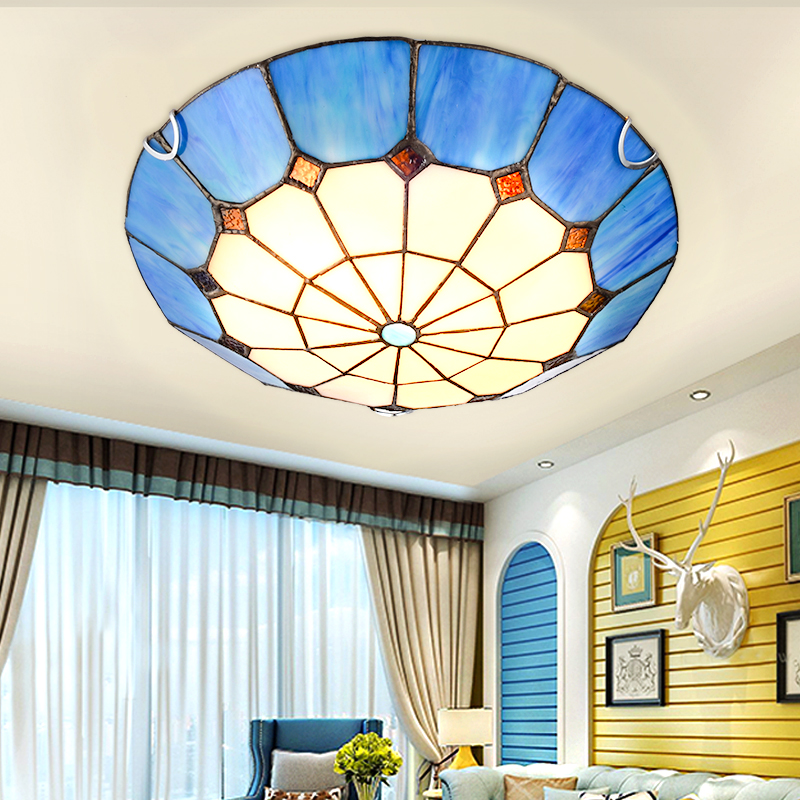 Mediterranean Sea led ceiling lights for living room bedroom dining room home ceiling lamp lighting light fixtures free shipping anqiue led ceiling lamp beautiful chandelier jingdezhen porcelain light for dining bedroom hotel free shipping