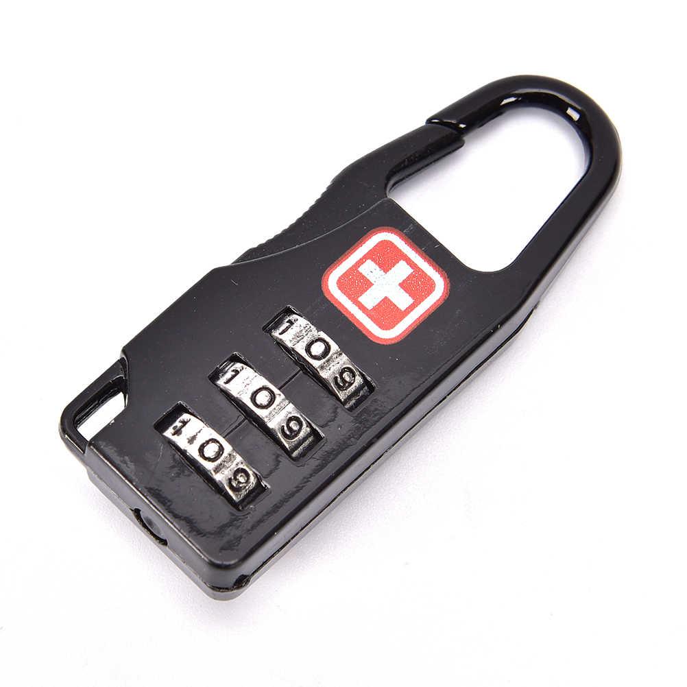 1Pcs Mini Koffer Lock 3 Cijfercombinatie Wachtwoord Bagage Code Slot Voor Reizen