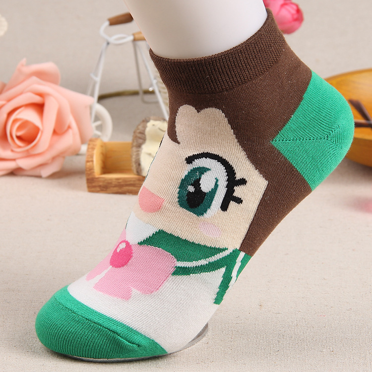 OLN KREU36-46 new arrivel spring summer fall warm cute boat socks cartoon Sailor Moon ship female lovely short (6 pairs / lot )