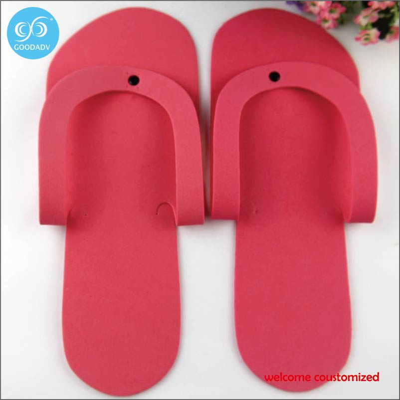 babc3a8b7a9d Cheap slipper Customize your brand logo hotel slipper Disposable eva hotel  flip flops welcome custom-in Slippers from Shoes on Aliexpress.com