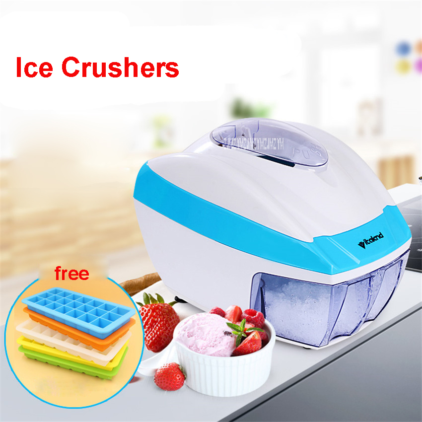 VL-3006A Small household crusher Use 220 v/50 Hz Snow Ice Shaver Electric Ice Crushed Beard Maker 35W Ice Cream Maker 800ml hand driven ice crusher commercial and home use crushed ice machine zf