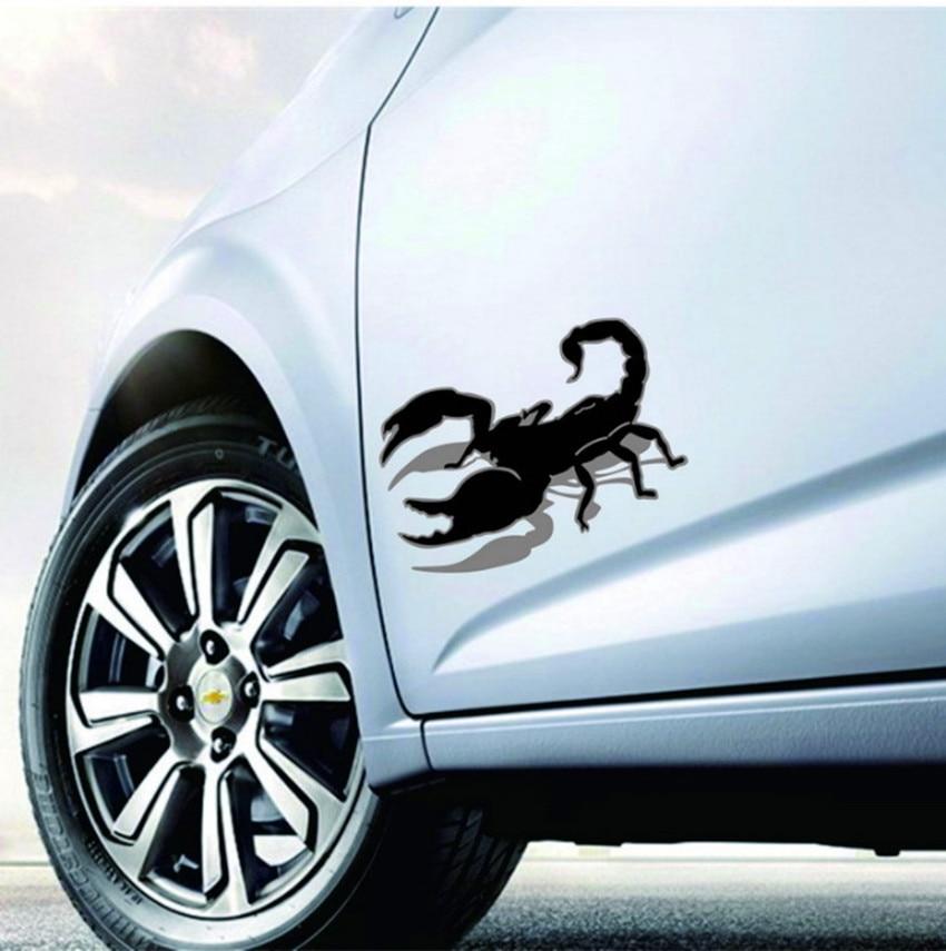 ᗐ5pcs New 3d Funny Funny Scorpio Car Sticker Cartoon