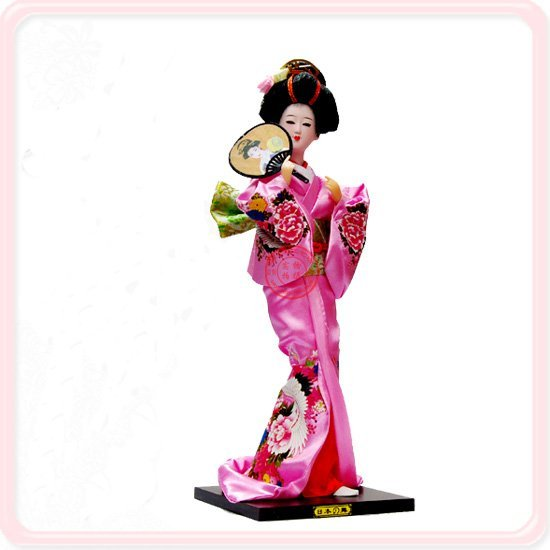 Collectibles Japanese Dolls Personalized Doll 12 inch Mix Color Styles Chinese Silk Handmade Crafts with Packing box  8pcs/pack